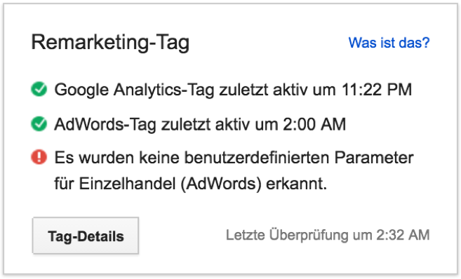 Remarketing-Tag